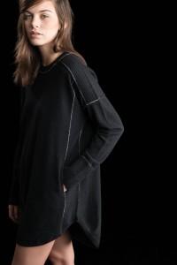 Sweater Dress, Black, 100% Cashmere | Paychi Guh