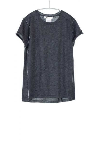 Baby Tee, Charcoal, 100% Fine Worsted Mongolian Cashmere | Paychi Guh