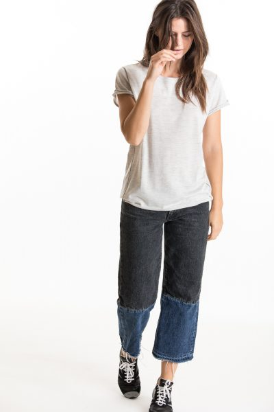 Baby Tee, Dove Grey, 100% Fine Worsted Mongolian Cashmere | Paychi Guh