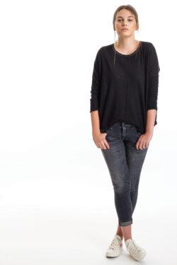 S131 Tissue Weight Scoop, Black, 100% Cashmere   Paychi Guh
