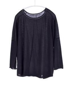 Tissue Weight Scoop, Black, 100% Cashmere | Paychi Guh