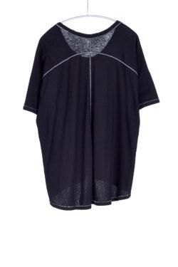 Boxy Tee, Black, 55% Linen 45% Cotton | Paychi Guh