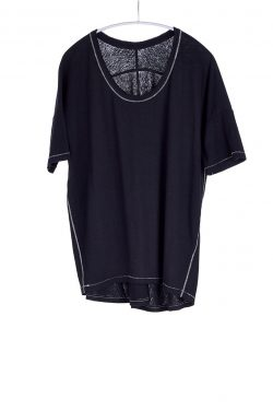 Boxy Tee, Black, 55% Linen 45% Cotton | Paychi Guh