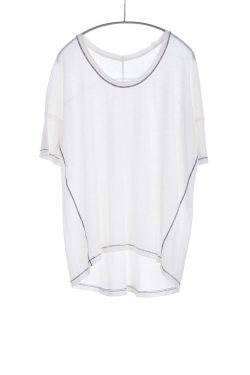 Boxy Tee, White, 55% Linen 45% Cotton | Paychi Guh