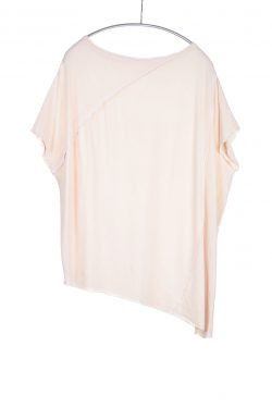 Popover Tee, Nude, 55% Linen 45% Cotton | Paychi Guh