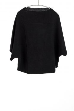 Tri-Panel Pullover, Black, 100% Cashmere | Paychi Guh