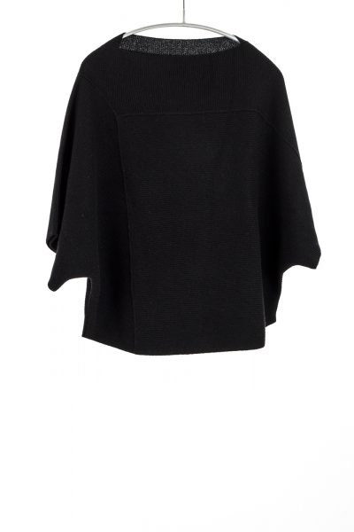 Tri-Panel Pullover, Black, 100% Cashmere | Paychi Guh