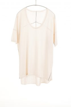 Boxy Tee, Cheesecake, 100% Fine Worsted Cashmere | Paychi Guh