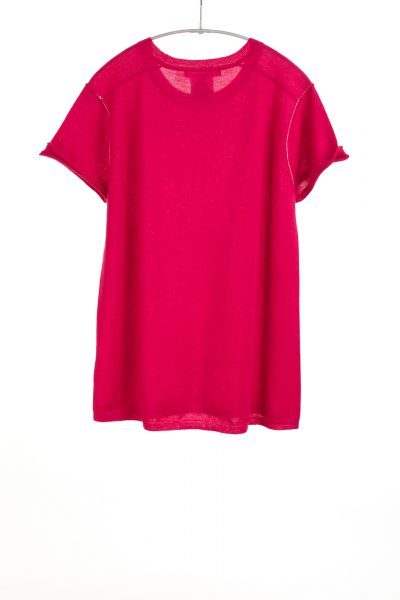 Baby Tee, Fuchsia, 100% Fine Worsted Mongolian Cashmere | Paychi Guh