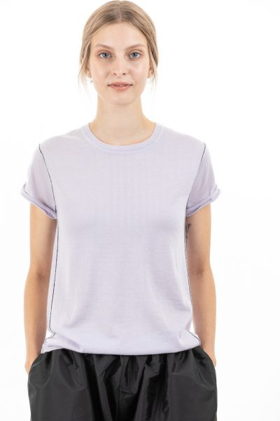 Paychi Guh | Baby Tee, Lavender Haze, 100% Worsted Mongolian Cashmere
