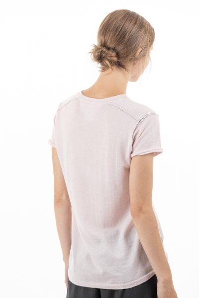Paychi Guh | Baby Tee, Orchid Ice, 100% Worsted Mongolian Cashmere