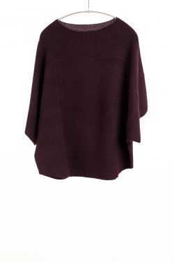 Tri-Panel Pullover, Currant, 100% Cashmere | Paychi Guh