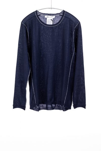 Paychi Guh | L/S Baby Tee, Navy, 100% Fine Worsted Cashmere