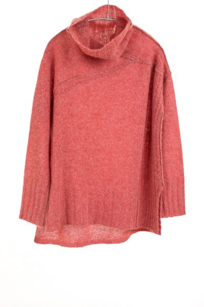 Paychi Guh | Dreamy Funnel, Coral, 100% Dreamy Cashmere