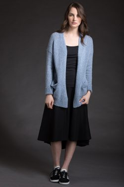 Paychi Guh | Dreamy Cardigan, Atlantic, 100% Dreamy Cashmere