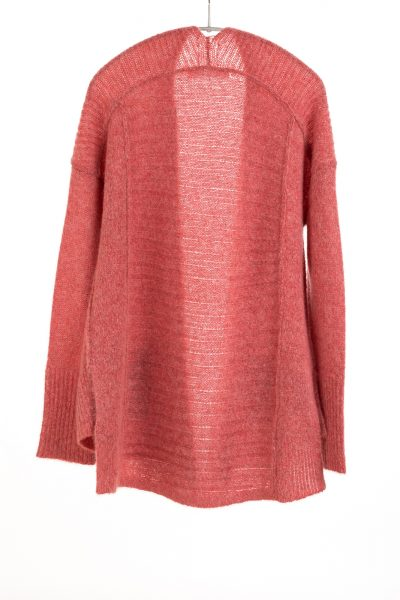 Paychi Guh | Dreamy Cardigan, Coral, 100% Dreamy Cashmere