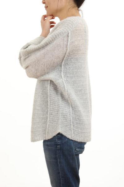 Paychi Guh | Bateau Pullover, Mist, Cashmere Silk