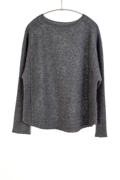 Paychi Guh | Bateau Pullover, Thunder, Cashmere Silk