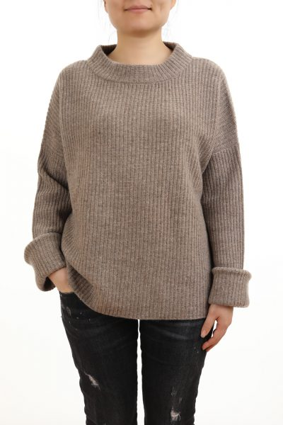 Paychi Guh | Relaxed Pullover, Chestnut/Oatmeal, 100% Cashmere