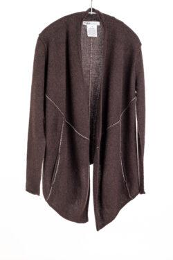 Paychi Guh | Line Cardigan, Espresso, 100% Cashmere