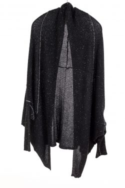 Paychi Guh | Cocoon Cardigan, Black Speckle, 100% Cashmere
