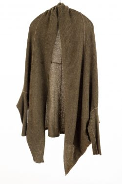 Paychi Guh | Cocoon Cardigan, Moss Speckle, 100% Cashmere