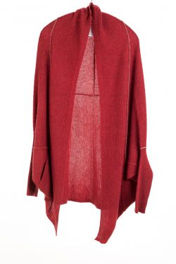 Paychi Guh | Cocoon Cardigan, Red Pepper, 100% Cashmere