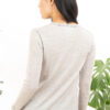 Paychi Guh | L/S Baby Tee, Dove Grey, 100% Worsted Cashmere