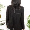 Paychi Guh   Open Back Cardigan, Black, 100% Worsted Mongolian Cashmere