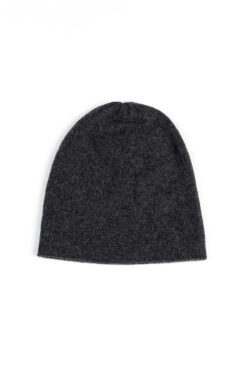 Paychi Guh   Slouchy Beanie, Charcoal, 100% Cashmere