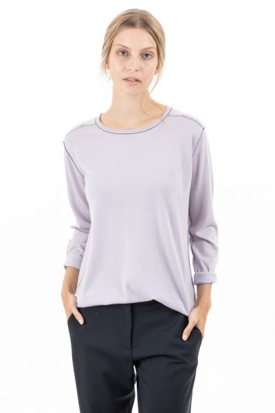 Paychi Guh | Easy Crew, Lavender Haze, 100% Worsted Cashmere