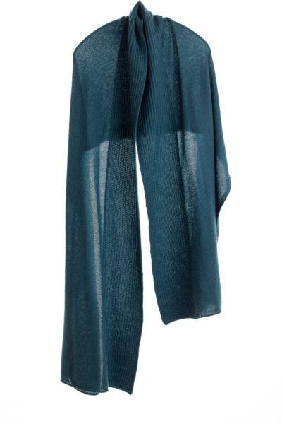 Paychi Guh | Textured Scarf, Dark Teal, 100% Cashmere