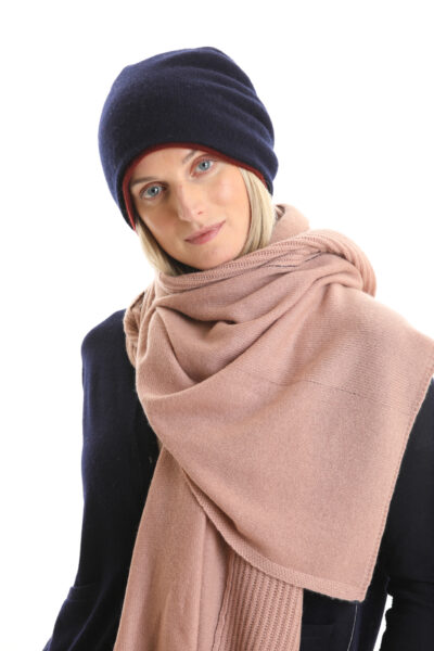Paychi Guh | Textured Scarf, Rose, 100% Cashmere