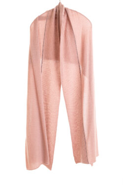 Paychi Guh   Textured Scarf, Rose, 100% Cashmere