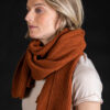 Paychi Guh | Textured Scarf, Spice, 100% Cashmere