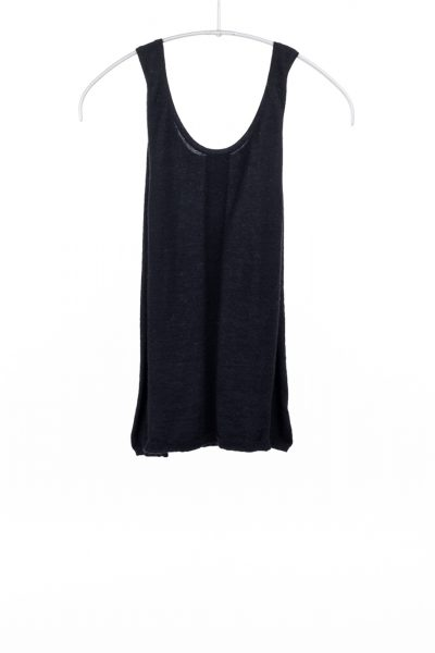 Paychi Guh | Tank, Black, 100% Worsted Mongolian Cashmere