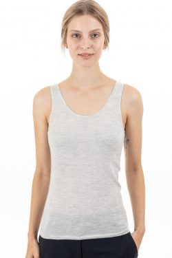 Paychi Guh | Tank, Dove Grey, 100% Worsted Mongolian Cashmere