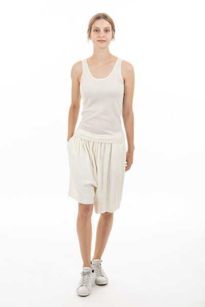Paychi Guh | Tank, Ivory, 100% Worsted Mongolian Cashmere