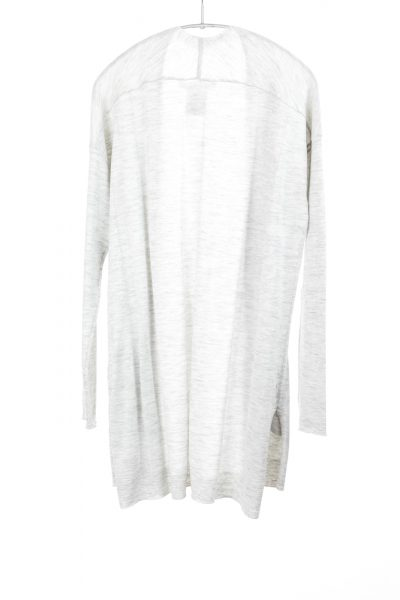Paychi Guh | Slim Cardigan, Dove Grey, 100% Worsted Mongolian Cashmere