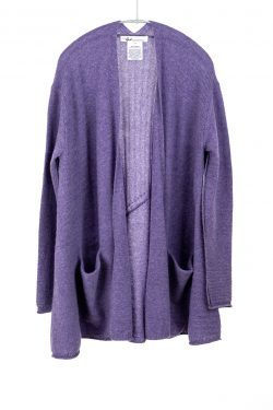 Paychi Guh | Airy Swing Cardigan, Heather Purple, 100% Airy Cashmere