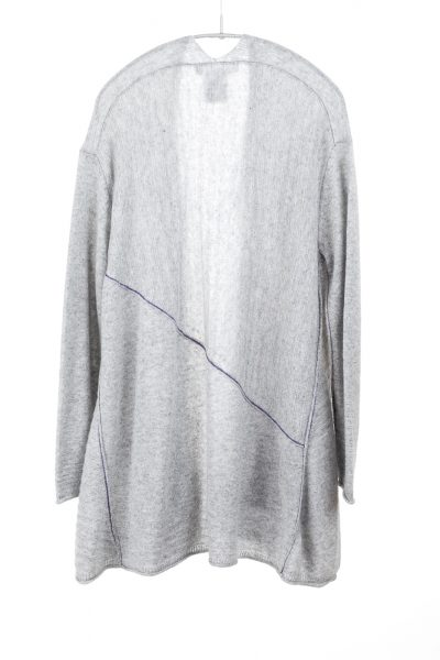 Paychi Guh | Airy Swing Cardigan, Lt H Grey, 100% Airy Cashmere