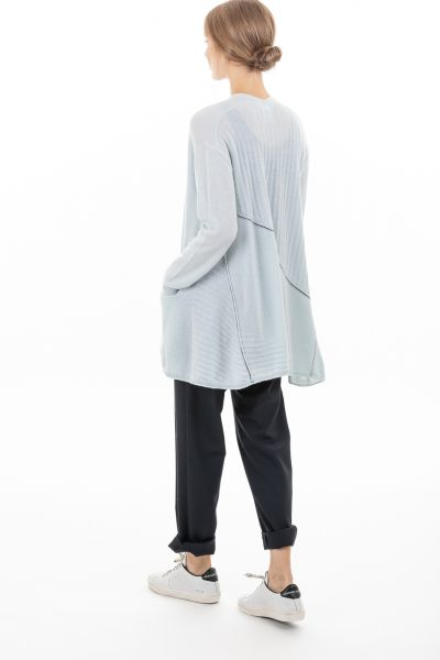 Paychi Guh | Airy Swing Cardigan, Morning Fog, 100% Airy Cashmere