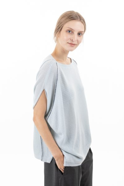 Paychi Guh | Airy Popover, Morning Fog, 100% Airy Cashmere