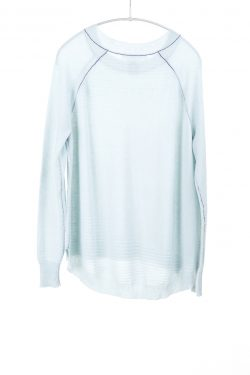 Paychi Guh | Airy Textured Crew, Morning Fog, 100% Airy Cashmere
