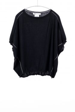 Paychi Guh | Popover, Black, 100% Worsted Mongolian Cashmere