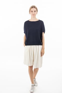 Paychi Guh   Popover, Navy, 100% Worsted Mongolian Cashmere
