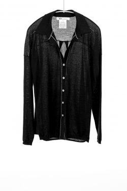 Paychi Guh | Shirt, Black, 100% Superfine Worsted Mongolian Cashmere
