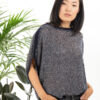 Paychi Guh | Two Tone Bateau, Navy/Dove Grey, 100% Worsted Mongolian Cashmere