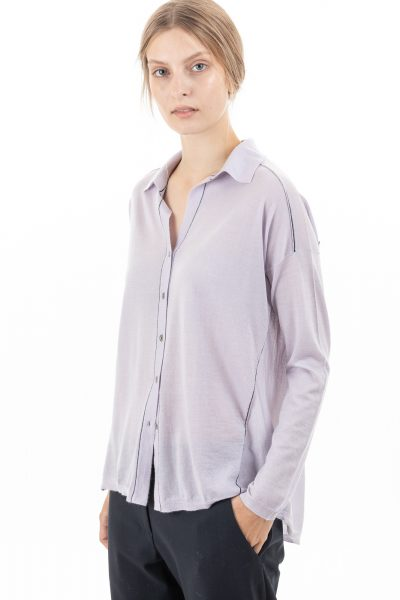 Paychi Guh | Shirt, Lavender Haze, 100% Superfine Worsted Mongolian Cashmere