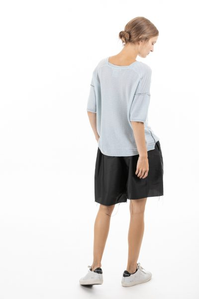 Paychi Guh | Airy V-Neck Pullover, Morning Fog, 100% Airy Cashmere